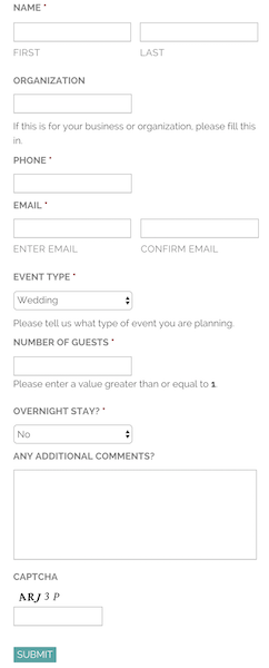 Customized Contact Form