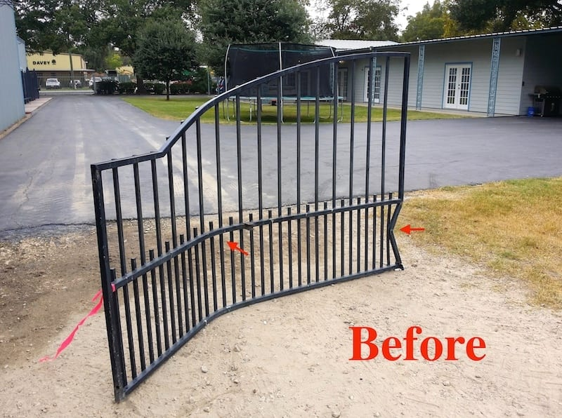 Crashed or damaged gate