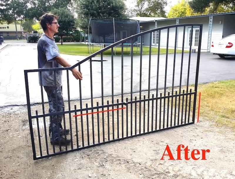 crashed gate after